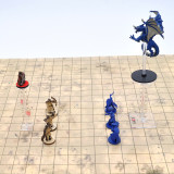 D&D Flying Miniatures Combat Riser (Set of 2) Acrylic Laser Cut Flight Stand Terrain from 0 to 9999 ft Perfect for Dungeons and Dragons, Warhammer and Other Tabletop RPG