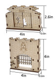 D&D Dungeon Door & Portcullis Gate Miniatures (Set of 2) Wooden Laser Cut Open and Closed Fantasy Terrain 28mm Scale for Dungeons & Dragons, Pathfinder and Other Tabletop RPG