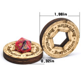 D&D 5E Inspiration Coin Tokens Laser Cut Wood (Set of 9) Perfect for Pathfinder, RPG and Board Game
