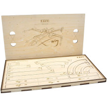 Star Wars X-Wing Movement Templates with Tray Wood Laser-Cut Maneuver and Range Rulers Set Compatible with 2.0 X Wing Miniatures Game
