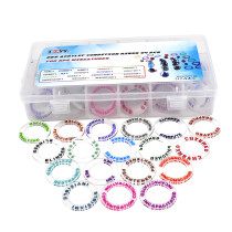 D&D Acrylic Condition Rings 72 PCS Status Effect Markers in 18 Conditions & Colors with 3x6 Storage Box Great DM Tool for Dungeons & Dragons, Pathfinder and RPG Miniatures