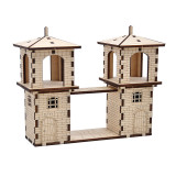 D&D Fantasy Modular Watchtower Wood Laser Cut Versatile Outpost Tabletop Wargaming Terrain with 2 Archer Miniatures Perfect for Pathfinder, Warhammer and Other RPG