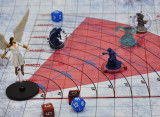 D&D Cone Spell AOE Template Acrylic Areas of Effect Damage Markers Tabletop Game Map Measure Tool from 5 to 60 ft, DM Accessories for TTRPGs