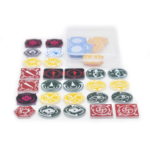 X Wing Acrylic Tokens & Markers Set of 36 - Combatible with X-Wing Miniatures Game Essentials for Space Fight Players