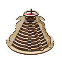 D&D Spell Slot Tracker Dials 9-Level Wood Laser Cut Spinning Spell Counter Great Spellcasting Tool for Dungeons and Dragons