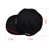Dungeons and Dragons Flat Bill Cap Snapback Hat Embroidered with D20 Dice Molecule Power -- Tabletop Gaming Gift for Dungeon Master or RPG Fan