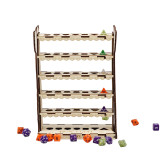 Dice Display Stand Wood Tauren Totem Pole Design Vertical Dice Display Shelf Perfect for Dice Collectors