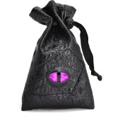 Drawstring Bag PU Leather Dice Sack Perfect for RPG, D&D, Game