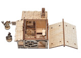 D&D Blacksmith and Forge Shop Miniature Wood Fantasy 28mm RPG Smithy Building Tabletop Village Scatter Terrain for Dungeons and Dragons, Warhammer 40k, Pathfinder and Wargaming