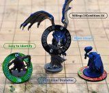 Upgraded D&D Condition Rings 96 Status Effect Markers with Color Printing in 24 Conditions & Spells, and with Magic Book Storage Box Ideal Tabletop RPG Gift for DM or Player