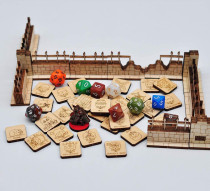 D&D Condition and Spell Tokens 116PCS in 29 Conditions & Effects Wooden Status Markers Carved with Fantastic Skull Icons Great DM Tool for Dungeons & Dragons, Pathfinder and RPG Miniatures