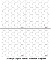 Acrylic Game Mat 1  Hex Grid Overlay Set of 2, 7 x8  Battle Map Board Clear & Durable - Great for Dungeons and Dragons, Pathfinder and Other Tabletop RPG