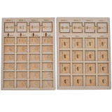Wingspan Objective Scoreboard Wooden Laser Cut Goal Board