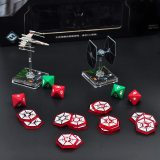 SWL Order Token Set of 25 Acrylic Game Upgrade Tokens for for Star Wars Legion