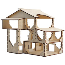 D&D Tavern Terrain Wood Laser Cut 3D Fantasy Inn Miniature 28mm Scale for Dungeons and Dragons, Warhammer 40k and Other Tabletop RPG