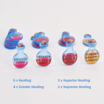 D&D Healing Potion Tokens Acrylic Set of 15 DND Accessories for Dungeons and Dragons 5th Edition