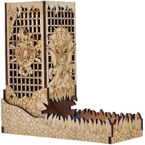 D&D Dice Tower with Tray Wood Laser Etched Cthulhu Portable and Collapsible Dice Roller Perfect for Board Game and Tabletop RPG