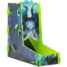 D&D Flat-Pack Dice Tower Acrylic Full Printed Cthulhu Portable Dice Roller