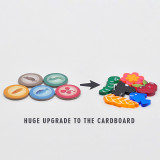 Wingspan Food Resource Tokens with Storage Box Set of 126 Acrylic Laser Cut Upgraded for Wingspan Board Game