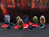 CZYY Gloomhaven Standee Bases Pack of 30 3D Printed Hex Monster Stand with Health Tracker and Status Token Slots