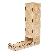 D&D Modular Dice Tower Wood Laser Etched 12 Cute Classes Dice Roller Perfect for Board Game and Tabletop RPG