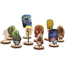 Monster Standees and Flying Stand Bases with Health Tracker and Status Token Slots Set of 30 Wooden Upgrade Accessories for Gloomhaven and Frosthaven