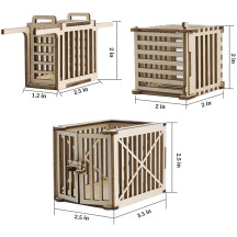 DND Dungeon Prison Cage Miniatures Set of 3 Wood Dice Jails 28mm Fantasy Terrain for Dungeons & Dragons, Warhammer, Pathfinder and Tabletop RPG