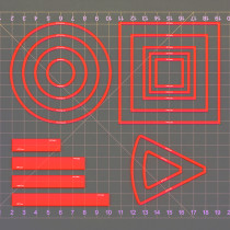 Area of Effect Spell Templates Set of 15 (Included Cube, Cone, Circle, and Line) Acrylic AOE Damage Marker Tabtop RPG Gaming Accessories