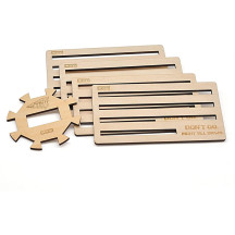 Dominos Holder (Set of 4) and Hub Set Wood Laser Cut Accessories, Gift for Mexican Train Dominos Players
