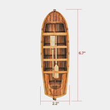 Rowboat Set of 2 Wood Laser Cut with Color Printing Boat Terrain Map for Dungeons and Dragons, Pathfinder, D&D and Tabletop RPGs