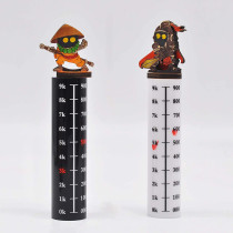 Flying Miniature Combat Riser Set of 2 Acrylic Rod with Numbers Flight Stand Platform for D&D, Pathfinder, Dungeons and Dragons, Warhammer and Tabletop RPG