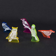 Bird Action Tokens Set of 40 Acrylic Laser Cut Birds Markers Upgraded Accessories for Wingspan