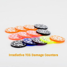 Damage and Status Counters Set of 24 Acrylic Effect Tokens Combatible with Pokémon TCG