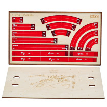 Star Wars X-Wing Acrylic Movement Templates with Wooden Tray Maneuver and Range Rulers Set Compatible with 2.0 X Wing Miniatures Game