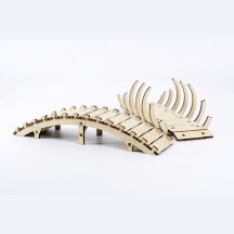 DND Arched Bridge & The Bone Bridge Miniature Set of 2 Wood Laser Cut Tabletop Gaming Scatter Terrain for Dungeons and Dragons, Age of Sigmar, Pathfinder and War Games