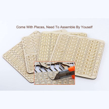 MTG Ability, Loyalty and +1/+1 Counters Set of 194 Wood Keyword, Magic Tokens Compatible with Magic The Gathering