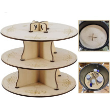 Pressure Pot Dice Rack Wooden Easy-Assemble Shelves, Pressure Pot Stand Perfect for Dice Making