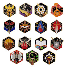 DND 5E Character Class + DM Hard Enamel Pins Set of 15 PCS Tabletop RPG Badges - Nerd Gift or Collection for Dungeons and Dragons, Dungeon Master and D&D Player