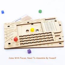 Investigator Dashboard Set of 2 Player Organization Board Wood Laser Cut Game Accessories for Arkham Horror LCG & Eldritch Horror