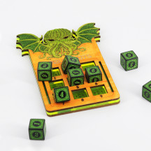 DND Spell Slot Tracker with 9 D6 Wood, Acrylic Laser Cut Dice Spell Counter RPG Gaming Accessories
