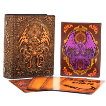 DND Spellcard Holder Embossed Hard Cover Spellbook Deck Case with 54 Blank Cards Tabletop Gaming Accessories for Dungeons and Dragons, RPG, Card Game