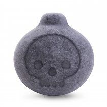 Dyfina Black Bath Bombs Activated Charcoal Gift Set - Cute Bomb Shaped With Skull Face