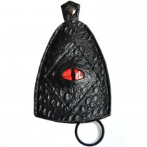 CZYY Keys Holder Case Black Faux Leather Unique 3D Dragon Eye Design with Key Chain Ring