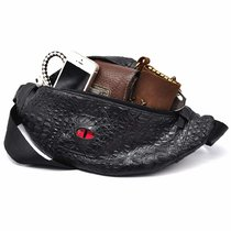 CZYY Designer Fanny Pack Black Faux Leather Cool DnD Dragon Eye Waist Bag with Adjustable Belt