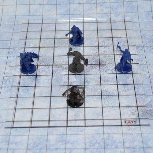 Acrylic Game Mat 1 Square Grid Overlay, 8 x11 Battle Map