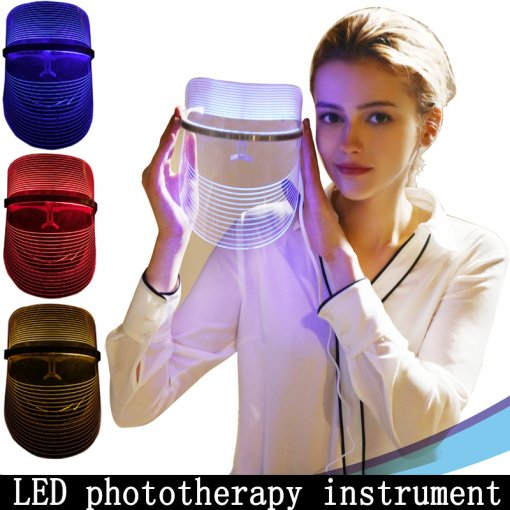 LED Facial Mask Therapy System Face Skin Care Phototherapy Tool