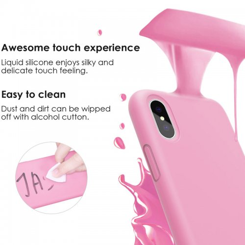 buy popular e1db1 99310 The JASBON case for iPhone X - thicken liquid silicone full protective  phone case