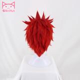 AniHut Eijirou Kirishima Wig Boku No Hero Academia Cosplay Wig My Hero Academia Hair Short Red Heat Resistant Synthetic Wig