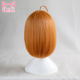 AniHut Takami Chika Wig Love Live Sunshine Lovelive Aqours Cosplay Wig Short Orange Hair