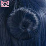 AniHut Tsushima Yoshiko Yohane Wig Love Live Sunshine Aqours Cosplay Wig Blue Long Straight Hair